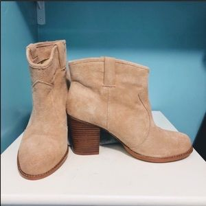 Splendid Lakota taupe tan ankle booties size 10